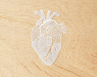 Hand-Cut Papercutting Artwork - Anatomical Heart
