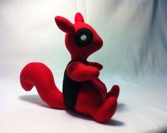 Deadpool Squirrel Plush Plushie Toy Squirrelpool