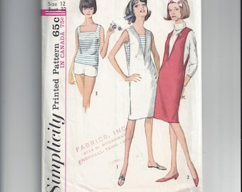 Simplicity 5454 Pattern for Misses' Jumper, Top, and Shorts, Size 12, From 1964