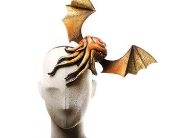 MADE TO ORDER Cthulhu Headpiece with Adjustable Wings
