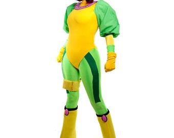 Rogue X-Men Age of Apocalypse Superhero Costume Cosplay Halloween