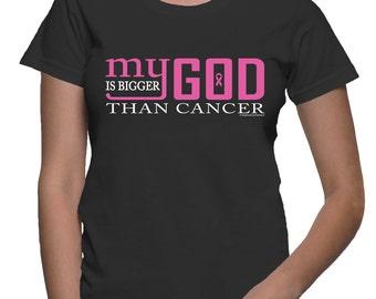 XXL - My God is bigger than cancer - Breast Cancer T-shirt