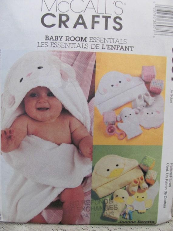 Baby Bedroom Essentials: McCalls 3697 Baby Room Essentials Hooded By OnceUponAnHeirloom