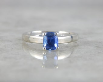 Contemporary Sapphire and White Gold Engagement Ring 3D27KD-D