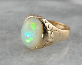 Ethiopian Opal And Antique Victorian Rose Gold Ring 0P8URX-P
