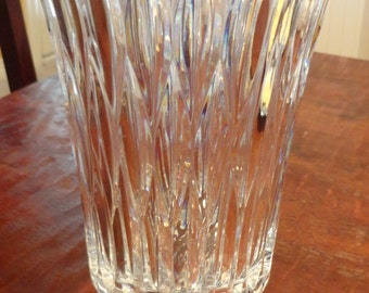 "HEAVY Crystal Vase by Block - Weighs 5 Pounds and 9 Ounces - 10"" Tall by 6 1/4"" Wide (at the mouth) by 4 7/16"" at the Foot"