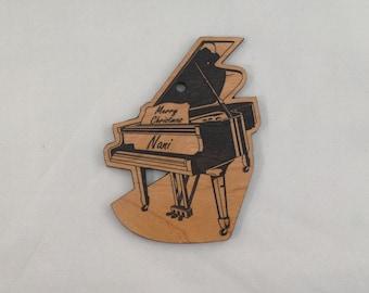 Custom Personalized Piano Christmas Ornament FREE Shipping
