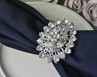 Stunning Large Rhinestone Brooch Embellishment -  wedding ornament wedding decoration - Flatback brooch- Brooch Bouguet - Jewelry Supplies.