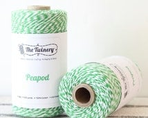 Green Bakers Twine, Green Twine, Bakery String, Twinery Twine, Gift Packaging, Christmas Twine, Baby Shower, DIY Craft Supplies Gift Wrap