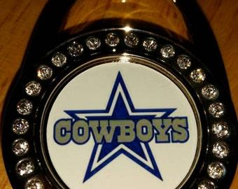 Hangs Outside Bag Premium Purse Hook Dallas Cowboys Folding Handbag Hanger Custom Customized Personalized NFL Team Football