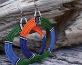 Beaded, Maasai style earrings // Made in Kenya