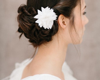 "Bridal Silk Flower, Wedding Hair Flower, Headpiece - ""Rachel"""