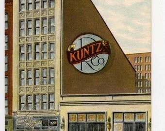 Chicago,the Kuntz-Remmler Co. Restaurant, vintage postcard