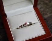Ruby, gold & Silver ring, engagement/wedding/commitment/mothers/Anniversary/friendship/daughter