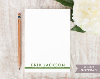 Personalized Notepad - BLOCK BOTTOM  - Stationery / Stationary Notepad - professional business letterhead