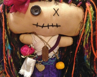 Handmade Shabby Charlotte Doll - Olive