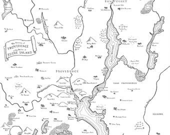 Fantasy map of Providence