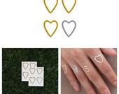 A Little Love - Metallic Heart Temporary Tattoo (Set of 8)