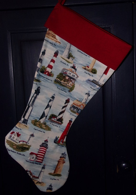 Lighthouse Christmas Stocking