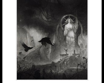 Calling the Mist - A4 Fine Art Print - Signed and embossed - Fantasy Art