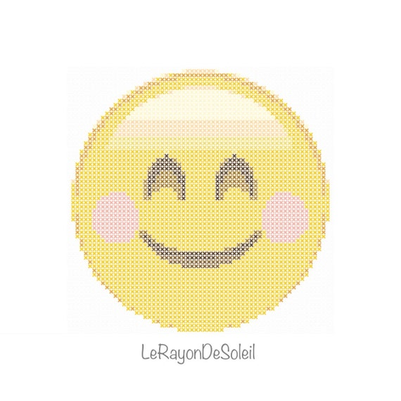 Emoji Cross Stitch Pattern