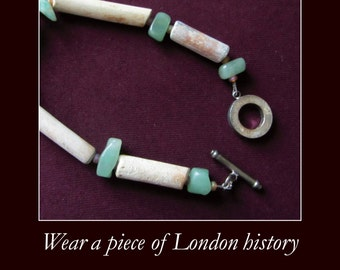 Bracelet made from clay pipes collected from the River Thames (GreenSP XL)