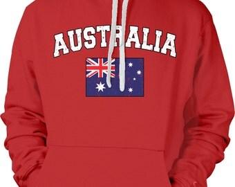 Australia Country Flag Sweatshirt, Australian Pride, Australia Flag, Australian Flag, International Country Flag Hoodies AUSSIE-02_2tonehood