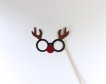 Holiday Photo Booth Props - Christmas Themed Glasses