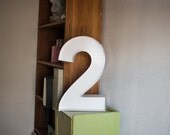 Vintage Inspired Marquee Number- Number 2, home decor, lighted number, marquee number, marquee light, number, vintage, two, wall art