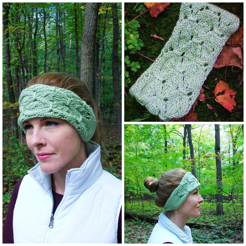 Knitting Terms M1 : Knit shamrock earwarmers pattern boho rustic
