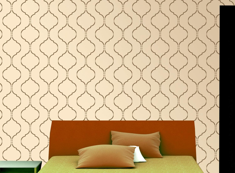 marokkanische schablone muster wiederverwendbare. Black Bedroom Furniture Sets. Home Design Ideas