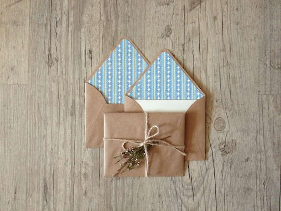 Crafted writing set - letter writing paper - vintage paper - eco friendly recycled brown envelope - pastel light rustic - europeanstreetteam
