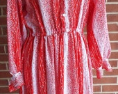 Vintage Red and White Lon...