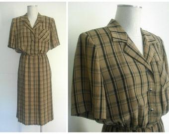 Vintage Short Sleeve Dress by Leslie Fay