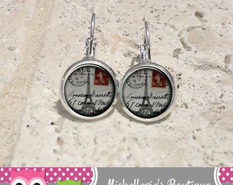 Postcards from Paris Earrings,Postcards from Paris Jewelry,Paris Accessories,Paris Gifts for Her