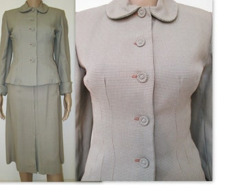 Ladies 1940-50's suit,  Vintage fitted suit Size XS-Small, Ladies Casablanca suit