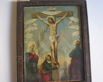 antique icon, crucifixion