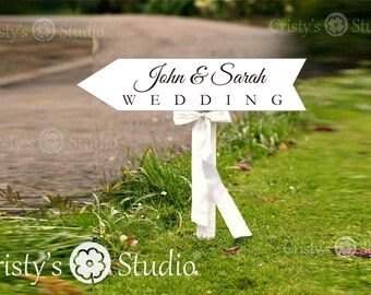 Arrow Wedding Sign - Wedding Sign Arrow