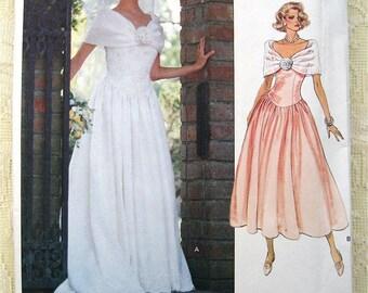 Vogue Bridal Original 2425 . Couture Wedding Dress Sewing Pattern Size 12-14-16 Uncut