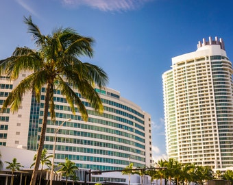 The Fontainebleau Hotel, in Miami Beach, Florida - Urban Architecture Photography Fine Art Print or Wrapped Canvas