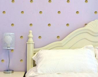 40-80 Vinyl Circles Wall Decal - Poka Dot Vinyl Decal Children's Room - Vinyl Wall Art Nursery - VWD