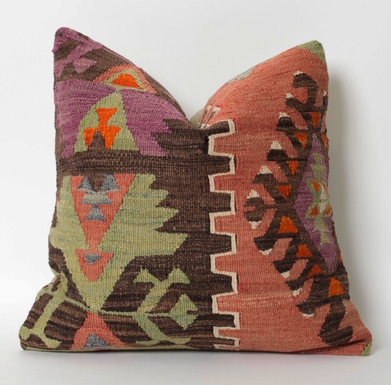 Turkish Kilim Pillow Home Decor Decorative Pillow Home: Rug Pillow Kilim Pillow Home Decor Turkish Pillow Throw Pillow