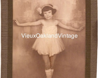 1920s Sweet Ballerina Girl Photograph