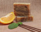 Burnt Orange Patchouli Handmade Soap All Natural Vegan Homemade Soap Shampoo Hand Lotion