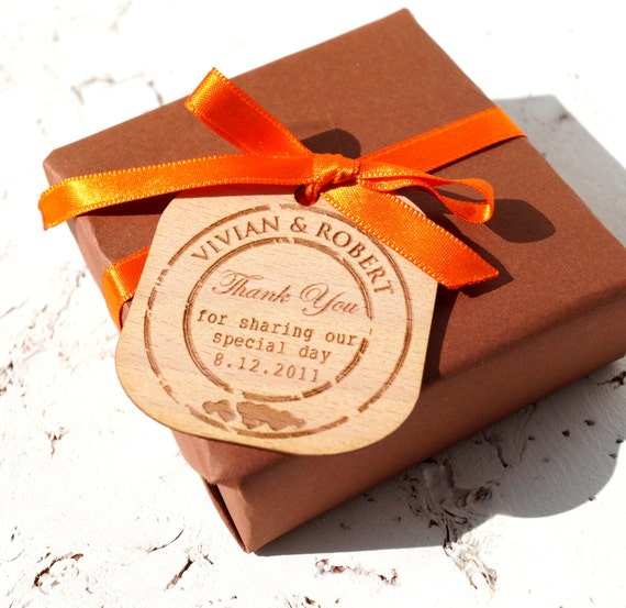 Wedding Favor Hang Tags : Wedding favor tags personalized favor tags rustic engraved