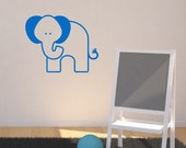 Nursery Elephant Wall Sticker Elephant Wall Decals Jungle Wall Art Animal Wall Transfer  AN036