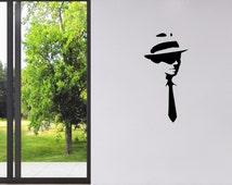 Banksy Wall Decal - Shirt and Fedora Man - Banksy Sticker - Banksy Art - Home Wall Decor - Vinyl Wall Stickers - Gifts For Him - BA016
