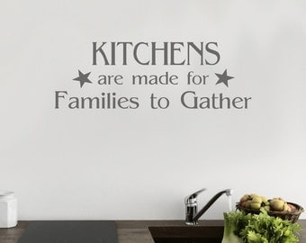 Kitchen Wall Art   Family Kitchen Quote   Kitchen Wall Decal   Kitchen  Decor   Dining