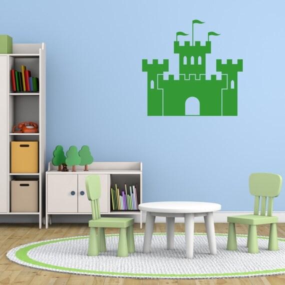 kids castle wall sticker castle wall decal childrens wall mermaid castle wall stickers wall stickers for kids