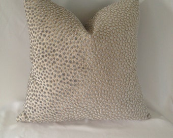 Lee Jofa Cosma in the color Opal (Animal Print Velvet) Pillow Cover